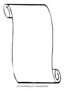 Scroll blank scroll lined