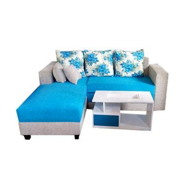 Sofa L Bed Minimalis jual aldi furniture minimalis sofa l bed biru