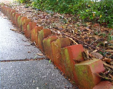 Brick Garden Edging Ideas How To Create Landscape Edging Use Angled Bricks Ehow
