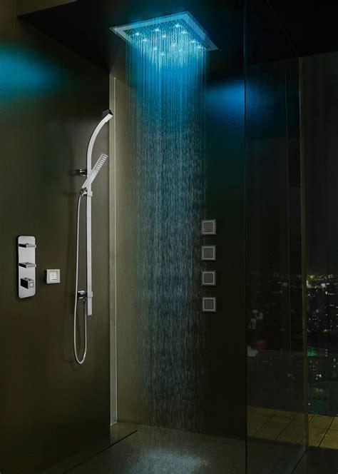 soffioni doccia bossini soffioni doccia con cromoterapia per docce emozionali