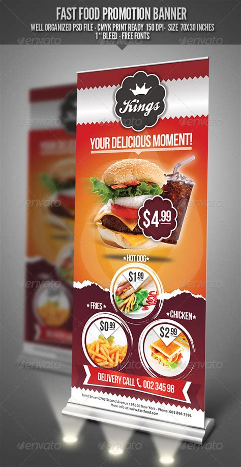 food banner template fast food promotion banner by punedesign graphicriver