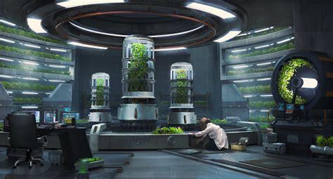 design concept green house hydroponics lab concept process polycount