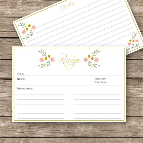 printable recipes vintage blank recipe card www pixshark com images