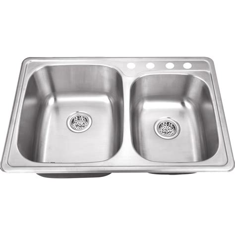 kitchen sink co ipt sink company drop in 33 in 4 hole stainless steel