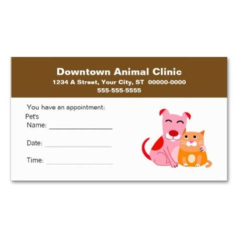 veterinary reminder card template 17 best images about veterinarian business cards on