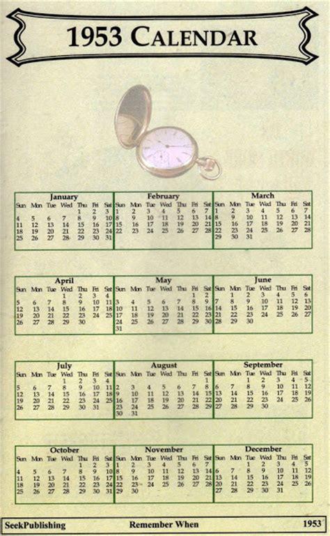 Calendario De 1953 La Inmaculada Calendario Y Eventos Sucedidos En El A 241 O 1953