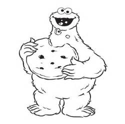 cookie monster eat cookie coloring pages