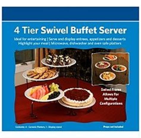 4 tier buffet server 4 tier swivel buffet server sideboards