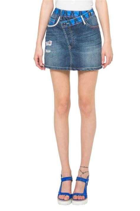 desigual skirt ethnic mini 61f27d6 denim skirt
