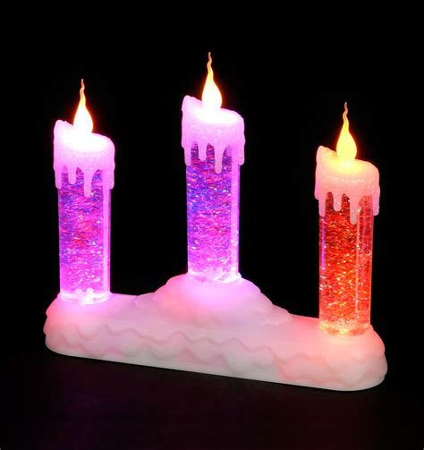 christmas trees and lights battery operated water