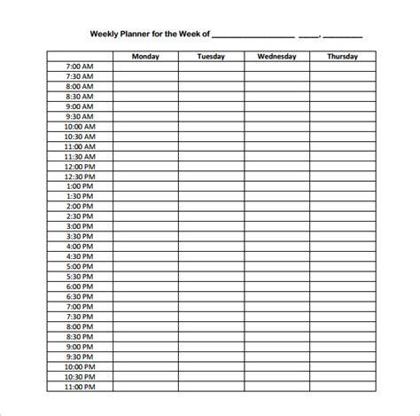 weekly planner excel excel weekly schedule template college weekly