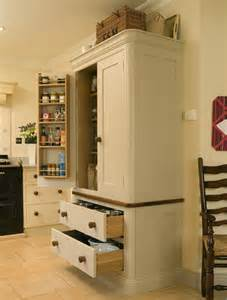 Kitchen Pantry Cabinet Freestanding kitchen larder units from trefurn cabinet makers