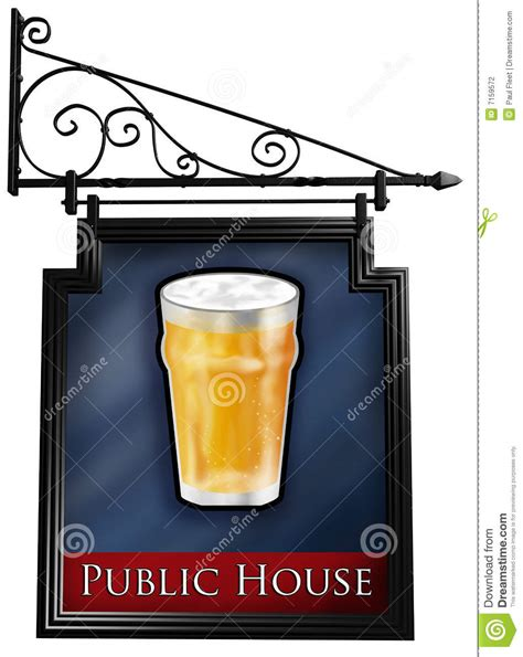 signs of an isolated pub sign stock photography image 7159572