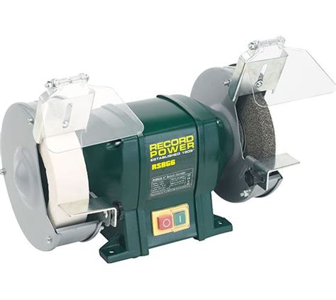record power bench grinder record power machines 6 quot bench grinder with 40mm white