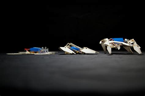 Robot Origami - origami inspired robot transforms from flat to 3 d