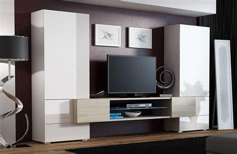 skanso wall unit in white gloss wotan oak on white media high gloss tv wall unit tori white sonoma oak