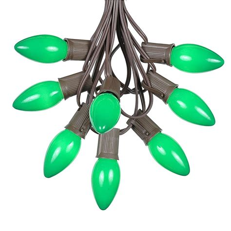 menards christmas lights c9 100 green ceramic c9 vintage christmas light set on brown