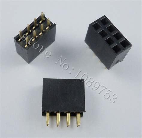 2x6 Pin 12p 254mm Row Pin Header 50pcs 2x4 pin 2 54mm row pin header 8p pcb