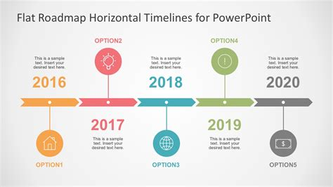 Flat Timelines Powerpoint Templates Timeline Template For Powerpoint