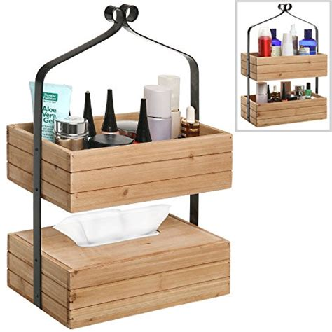 Tissue Box Multipurpose Organizer bathroom shelf organizer stand wood tissue holder box