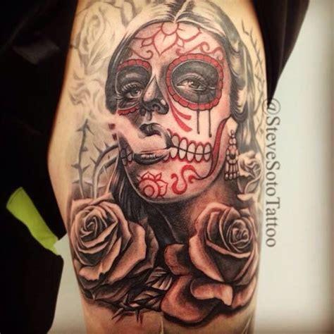 dia de los muertos angel sleeve tattoos pinterest