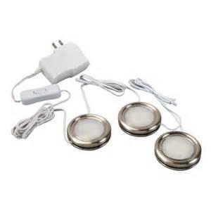 westek 3 pack plug in cabinet led puck light kit lowe s