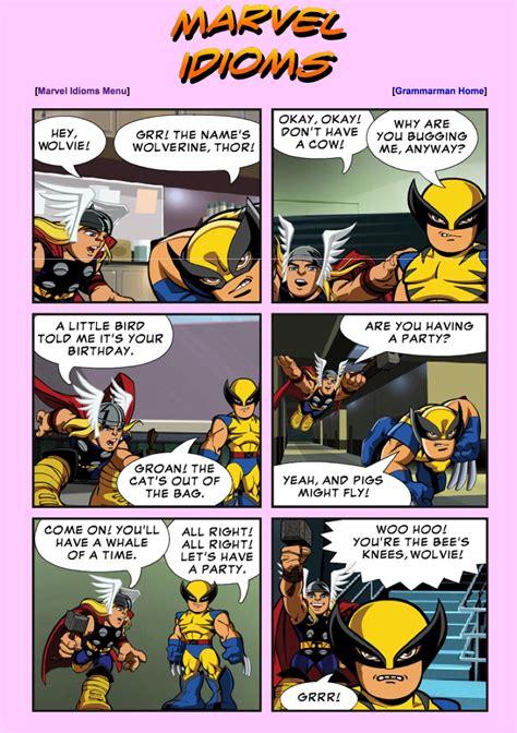 imagenes sorprendentes comicas comic marvel idioms recurso educativo 40560 tiching