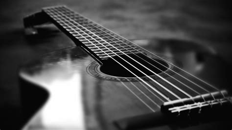 guitar wallpaper black and white hd acoustic guitar wallpaper hd wallpapersafari