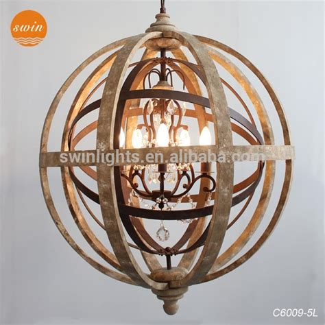Wrought Iron Chandeliers With Crystals Antique Globe Wood Chandelier Made By Chinese Manufacturer