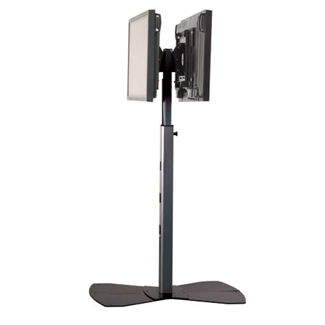 Monitor Floor Stand by Pf22000s Large Flat Panel Dual Display Floor Stand