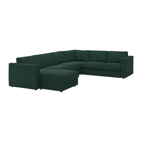 Green Sectional Sofa With Chaise by Vimle Sectional 5 Seat Corner With Chaise Gunnared