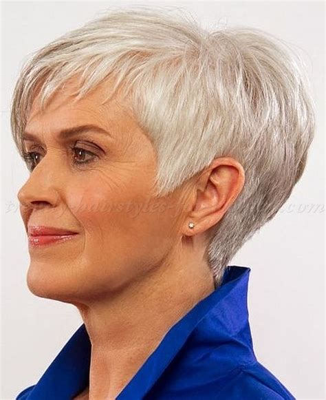 hairstyles for gray hair women over 55 i like the volume and length of the sideburn on this one