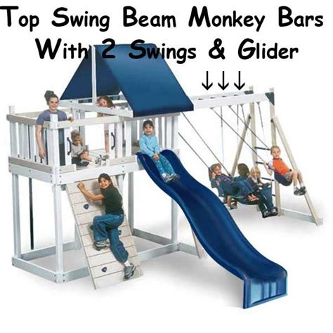 monkey bar swing set plans swing set plans with monkey bars woodworking projects