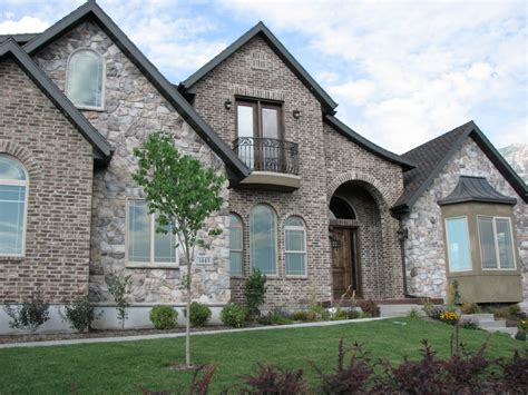 rock brick combination exterior home home improvement brick and combinations