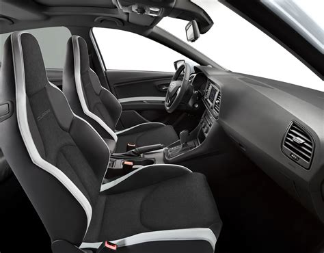 seat leon cupra   performance pack  black  white  editions carscoops