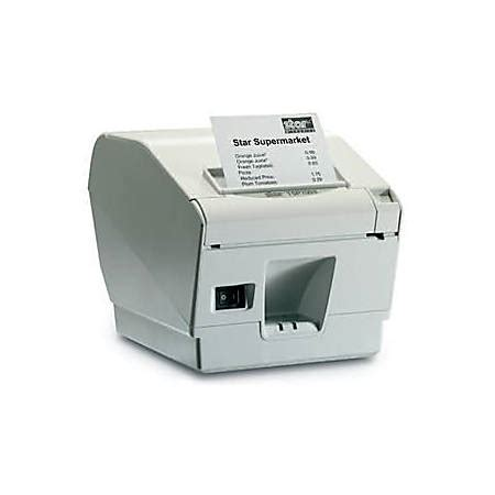 Star Micronics Tsp700ii Tsp743iic Gry Pos Thermal Label Printer By Office Depot Officemax Thermal Printer Receipt Template