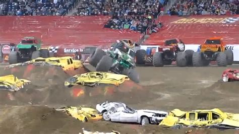 trucks grave digger crashes best of truck grave digger jumps crashes
