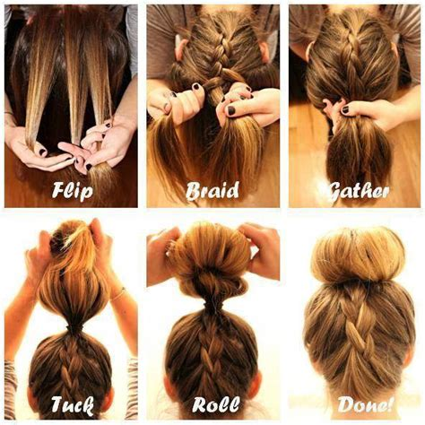 how to have a bun with a plait wrapped around it diy upside down french braid bun hairstyle video