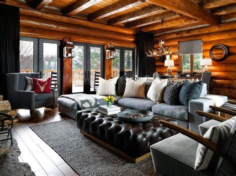 Log Cabin Living Rooms by Top 60 Best Log Cabin Interior Design Ideas Mountain