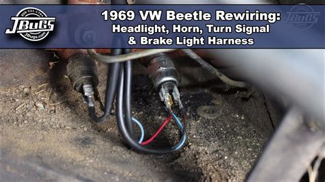 jbugs  vw beetle rewiring headlight horn turn