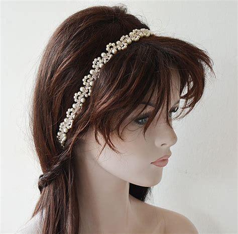 Wedding Hair Accessories Pearl by Bridal Headband Wedding Pearl Hair Accessories Wedding