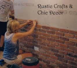Ideas For Bathroom Tiles On Walls Easy Way To Install A Rustic Brick Veneer Wall Rustic