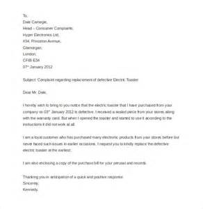 Customer Purchase Letter Customer Complaint Letter Template 11 Free Sle Exle Format Free Premium