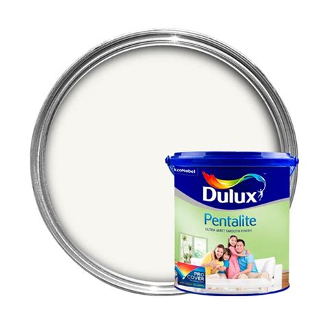 Dulux Pentalite Brillian White 2 5 Lt jual dulux pentalite cat interior brilliant white 2 5 liter harga kualitas