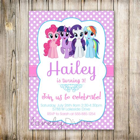 Do It Yourself Home Decorations by My Little Pony Personalized Birthday Invitations