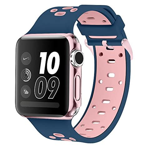 Durable White Silicon Band For Apple 38mm band for apple 38mm alritz patent pending silicone sport replacement wristband