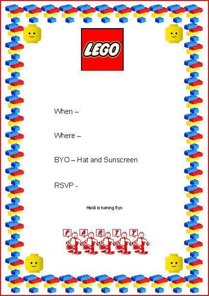 Ninjago Party Invitation Template Free Orderecigsjuice Info Lego Birthday Invitation Template