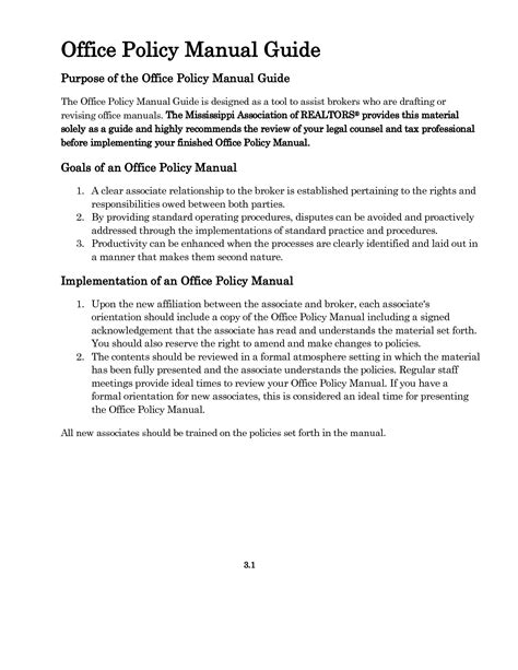 department policy template best photos of office handbook template office manual