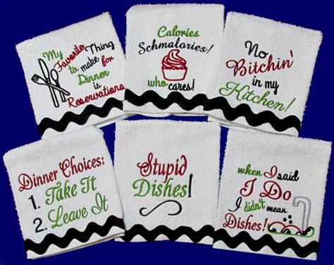 Kitchen Towels With Sayings Kitchen Towel Sayings