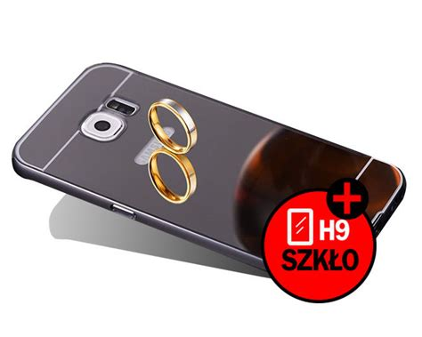 Bumper Sled Mirror S7 Edge etui bumper plecki mirror do galaxy s7 edge czarne szkło hartowane 9h 4kom pl